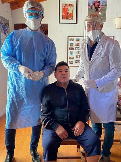 Maradona dio negativo en la prueba del coronavirus este martes Foto: sanchisebastian