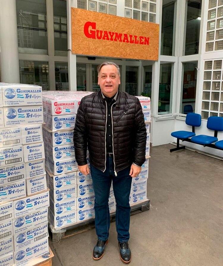 Hugo Basilotta, en la fábrica de Mataderos