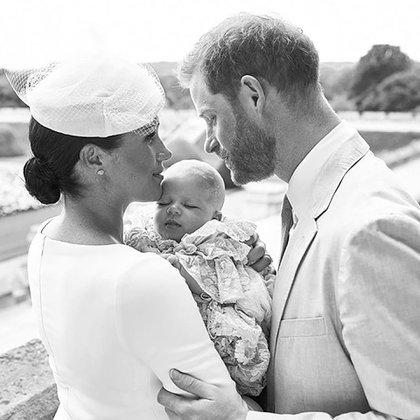 La primera imagen del bautismo de Archie junto a Meghan Markle y Harry