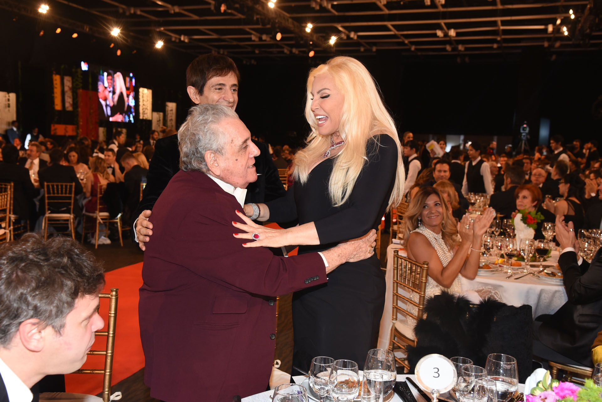 Susana Giménez y Antonio Gasalla, en unaentrega de los Martín Fierro.Son amigos, pero ya no compañeros