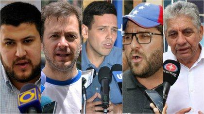 David Smolansky, Ramón Muchacho, Carlos García, Gustavo Marcano y Alfredo Ramos