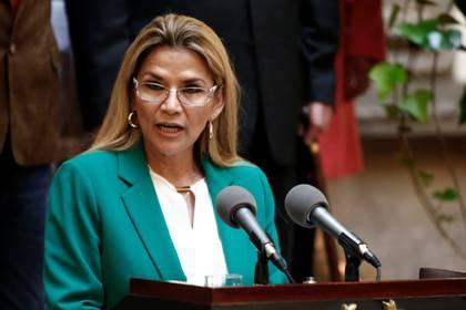 La presidenta interina de Bolivia, Jeanine Añez, pidió cárcel y todo el peso de la ley