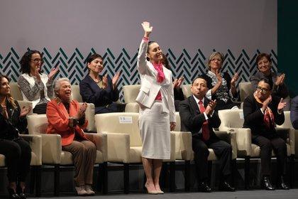 Claudia Sheinbaum realizó su primer informe desde el Teatro Esperanza Iris. (Foto: Cuartoscuro)