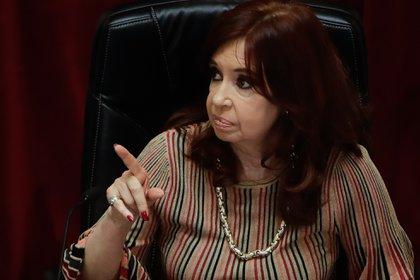 La vicepresidente Cristina Fernández de Kirchner (EFE/Juan Ignacio Roncoroni/Archivo)