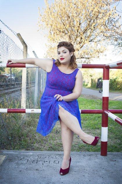 La actriz tiene 30 años, es oriunda de Goya, Corrientes, y llegó a Buenos Aires a los 18 (Crédito: Sara Llopis)