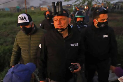 Ministro de Seguridad de Buenos Aires, Sergio Berni (Twitter Andrés Blanco / @chaplinzanon)