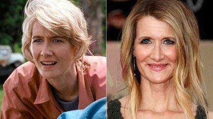 """Laura Dern en """"Jurassic Park"""" y en la actualidad"""