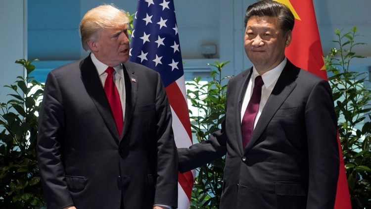 Donald Trump y Xi Jinping, presidente de China