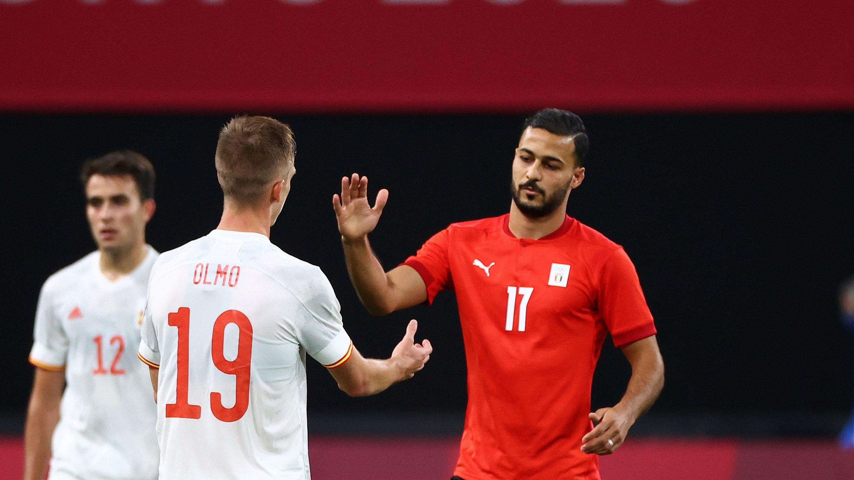 España y Egipto igualaron sin goles en su estreno olímpico (REUTERS/Kim Hong-Ji)