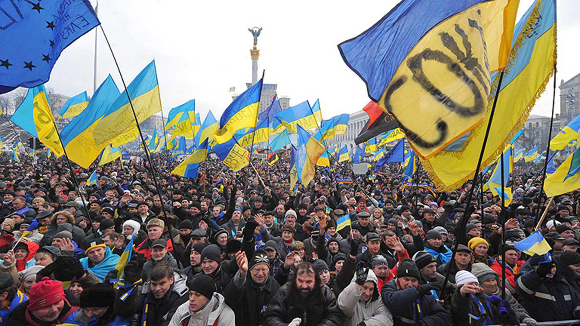 El movimiento Euromaidan ganó popularidad en 2013 cuando el parlamento Ucraniano desechó un acuerdo para ingresar a la Unión europea.