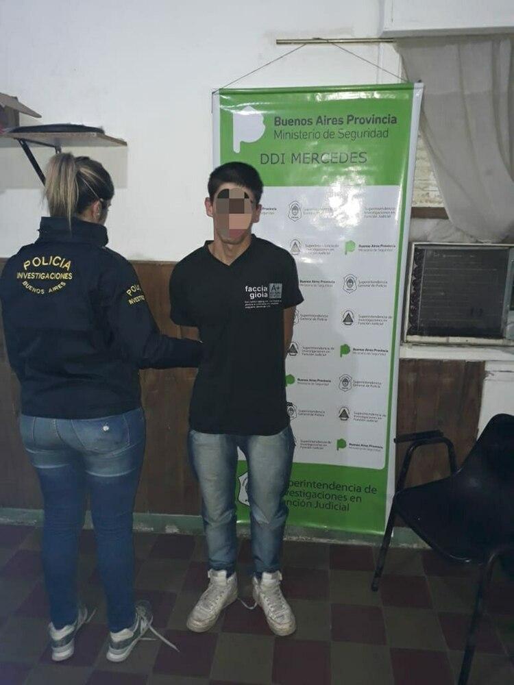 Eduardo Retamal, al momento de su detención