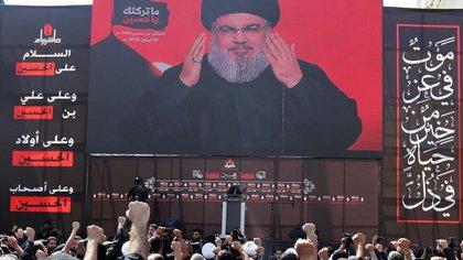 Hassan Nasrallah, jefe terrorista de Hezbollah (REUTERS/Aziz Taher)