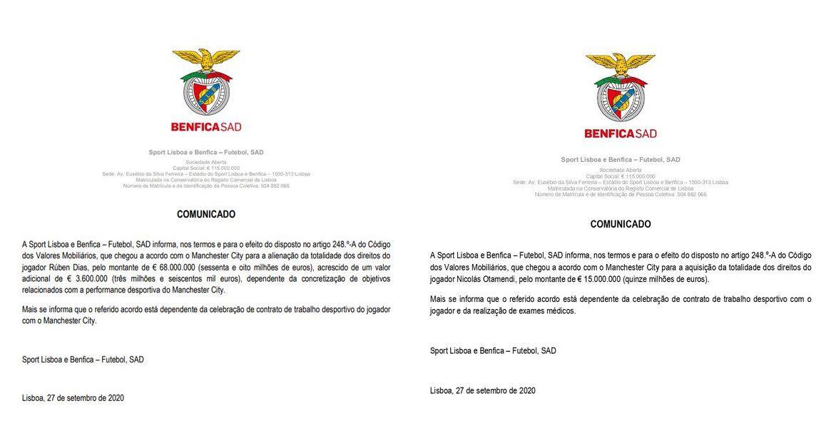 Acuerdo compra Otamendi Benfica Manchester City