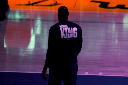 Los Angeles Lakers power forward LeBron James.  EFE / ETIENNE LAURENT / Archive