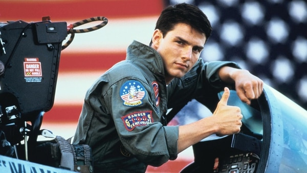 """Tom Cruise protagonizó la película """"Top Gun"""" en 1986"""