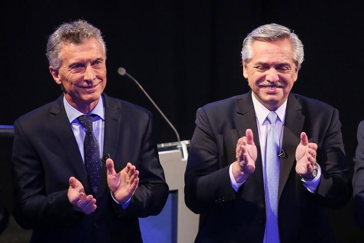 Mauricio Macri y Alberto Fernández, sobre el final del debate