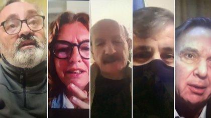 Homenaje a Rucci. Joaquín de la Torre, Claudia Rucci, Jorge Yoma, Guillermo Britos y Miguel Angel Pichetto.