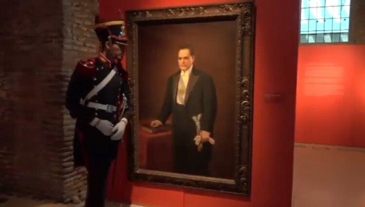 El cuadro de Hipólito Yrigoyen en el Museo de la Casa Rosada