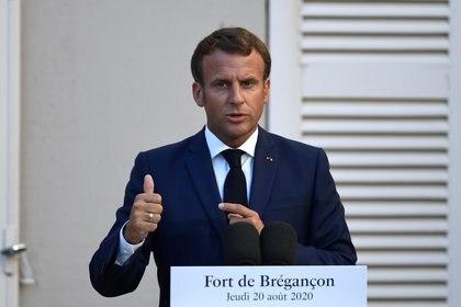 El presidente francés Emmanuel Macron ya había también criticado el acuerdo (Christophe Simon/Pool via REUTERS)