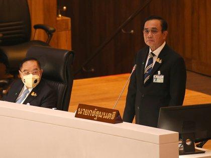 Primer ministro de Tailandia Prayut Chan-o-cha. EFE/EPA/NARONG SANGNAK