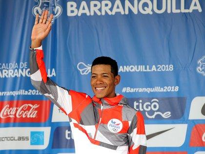 El ciclista panameño Christofer Jurado. EFE/Ernesto Guzmán Jr./Archivo