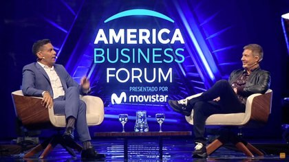 Adrián Suar, en el America Business Forum 2020 (Grupo Mass)