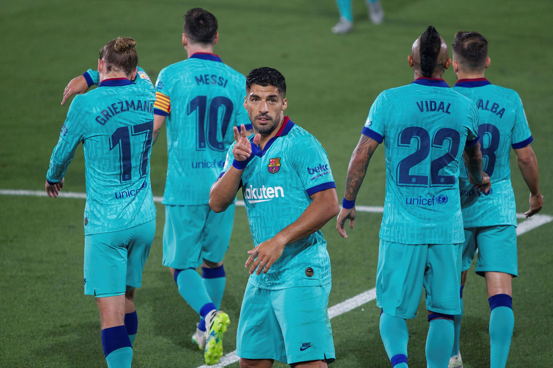 Luis Suárez, autor del segundo gol del Barcelona (EFE / Domenec Castelló)