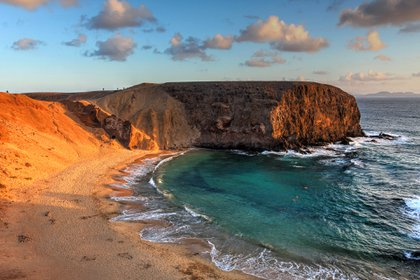 Papagayo Beach en Lanzarote, España (Getty)