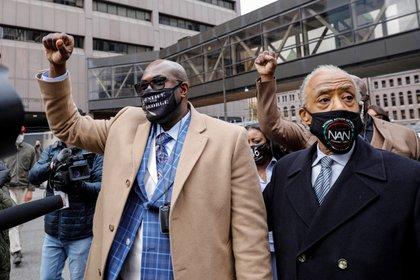 Familiares de George Floyd encabezaron las manifestaciones para pedir justicia por la muerte del hombre afroamericano (REUTERS/Nicholas Pfosi)