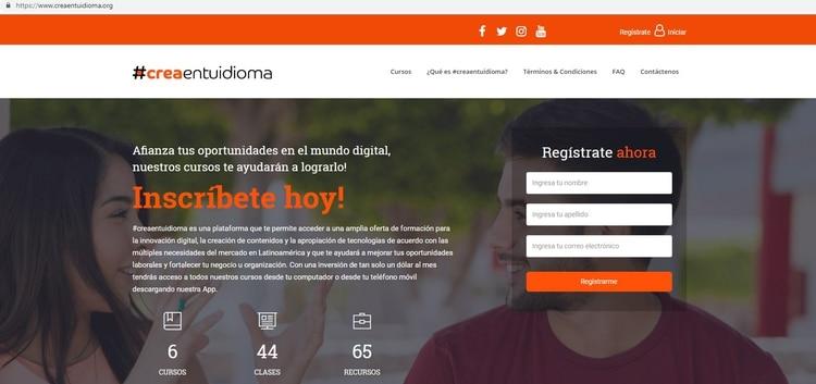Crea en tu idioma tiene todos los cursos en castellano.