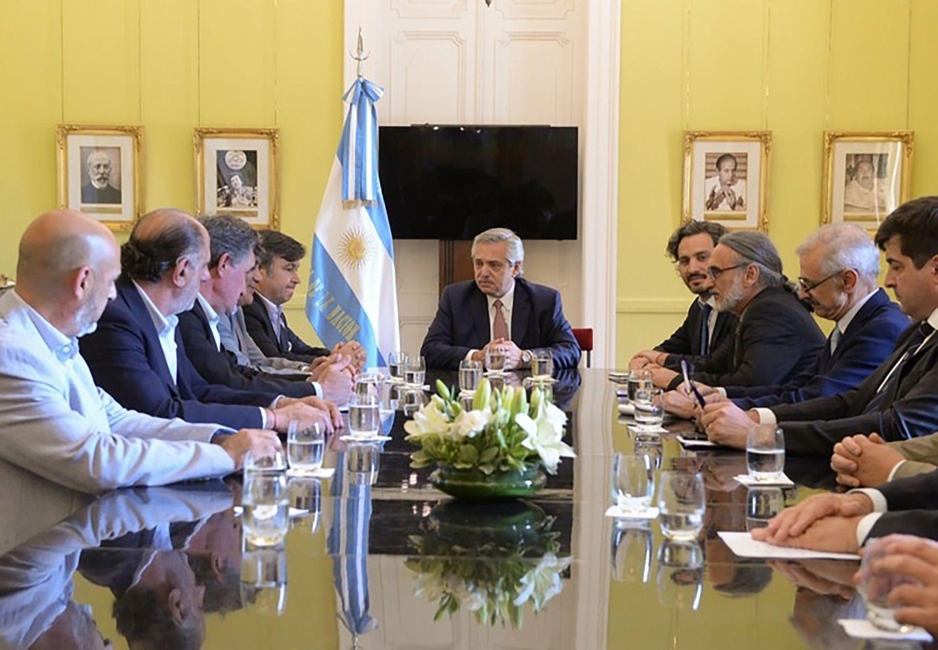 23 de diciembre de 2019, última reunión de Alberto Fernández y la Mesa de Enlace, Fue en Casa de Gobierno. (Presidencia)