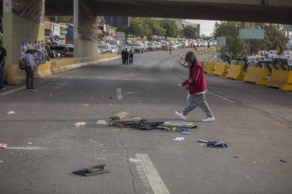 El hombre atropelló a cuatro personas, entre ellos una mujer en silla de ruedas y dos ancianos, dos de ellos fallecieron FOTO: OMAR MARTÍNEZ /CUARTOSCURO