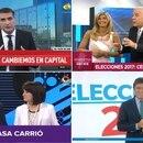 Qué mostraron los canales de televisión al cierre de la votación