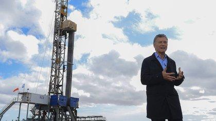 El presidente Mauricio Macri en Vaca Muerta (NA)