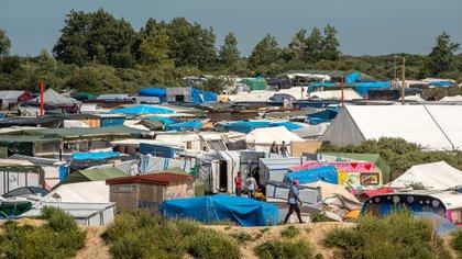 Calais, Francia, campo de refugiados (Foto: AFP)