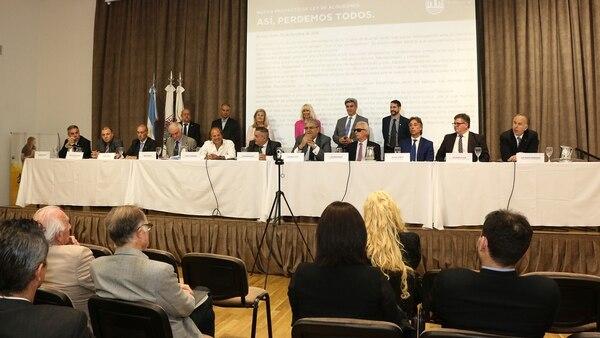 Las entidades del sector presentaron su posición en una conferencia de prensa (CUCICBA)