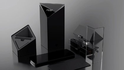 Se filtraron imágenes sobre lo que sería el nuevo Motorola Razr y sus accesorios.