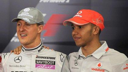Schumacher y Hamilton durante el tiempo que compartieron la Fórmula 1 (Foto: Shutterstock)