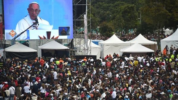 Misa en Colombia (AFP)