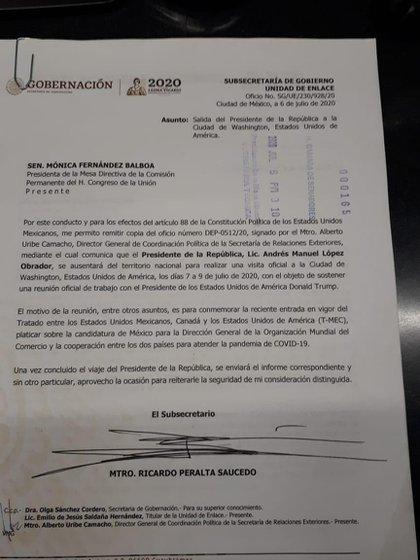 La carta que envió el presidente mexicano a la Comisión Permanente del Congreso mexicano reveló los temas más importantes para AMLO (Foto: Especial)