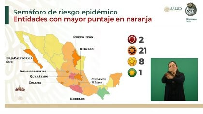 """En color """"verde"""" solamente estará Chiapas (Foto: SSA)"""
