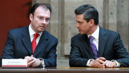 Enrique Peña Nieto con Luis Videgaray, el flamante canciller de México