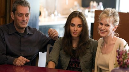 Siri Hustved junto a su marido, Paul Auster, y su hija, Sophie Auster
