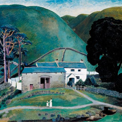 """Granja en Watendlath"" (1921) de Dora Carrington"