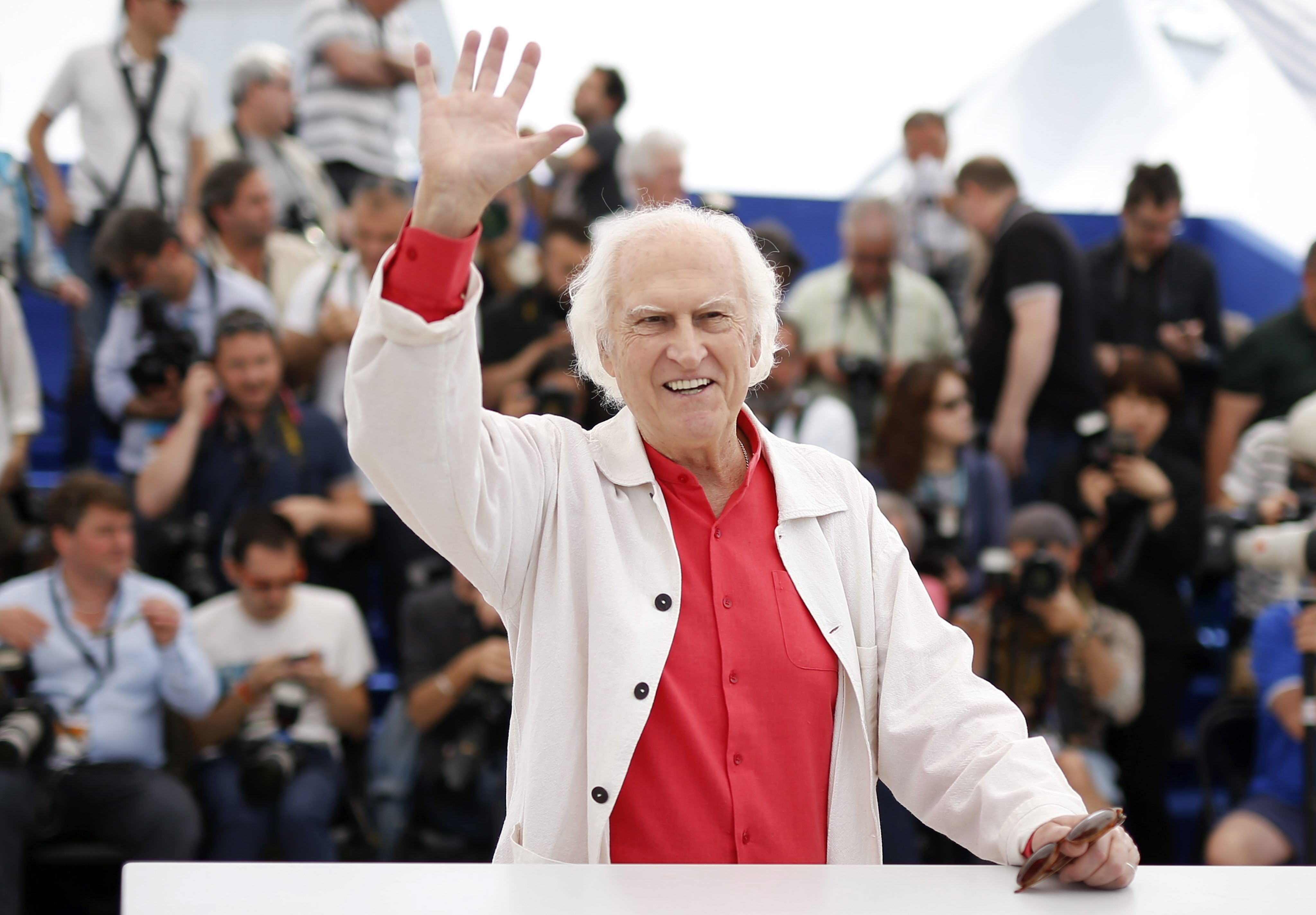 El director de cine y ex Senador Fernando E. Solanas, durante la 68ª edición del Festival de Cine de Cannes (Francia). EFE/Guillaume Horcajuelo/Archivo