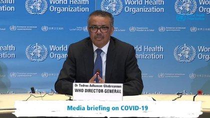 10/04/2020 El director general de la Organizaci�n Mundial de la Salud (OMS), Tedros Adhanom Ghebreyesus, ha destacado la desaceleraci�n de los casos de coronavirus que est� ocurriendo en algunos pa�ses europeos, como Espa�a, Italia, Francia o Alemania. POLITICA  WHO