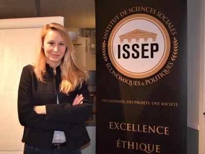Maréchal en la sede del ISSEP de Lyon, Francia.