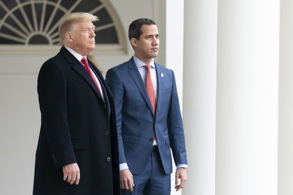 Donald Trump y Juan Guaidó. SMG / ZUMA PRESS / CONTACTOPHOTO