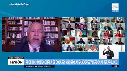 Juan Carlos Romero votó en contra de la prohibición de compra de dólares para diputados y senadores