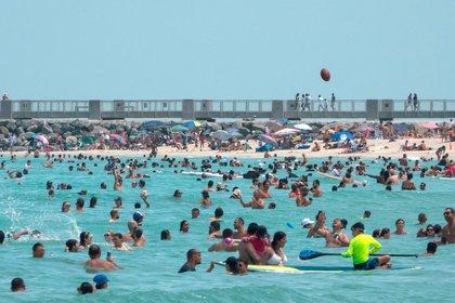 Una playa de Miami el pasado fin de semana (EFE)